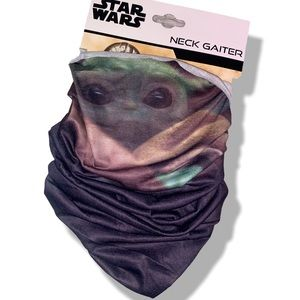 Star Wars Mandalorian Baby Yoda Black Neck Gaiter